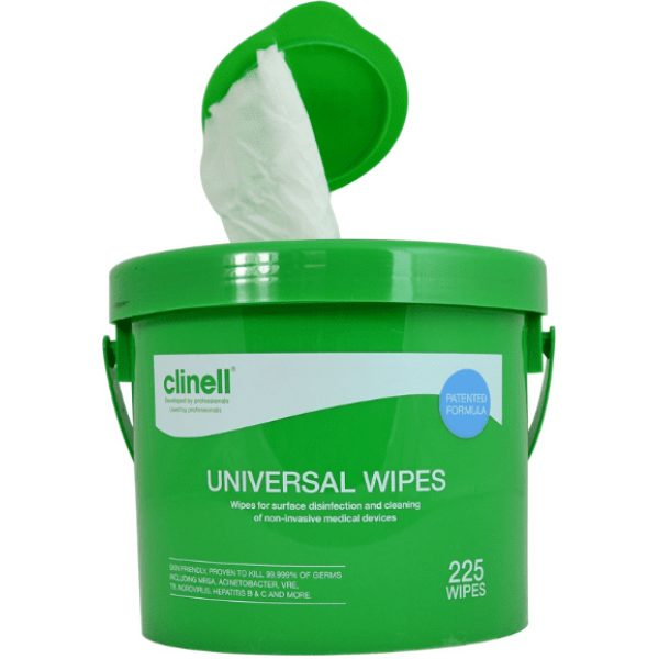 Clinell Universal Wipes Bucket 1x225