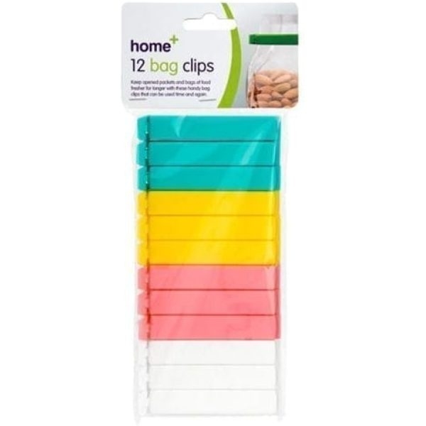 Bag Clips GREEN YELLOW PINK WHITE 36 X 12