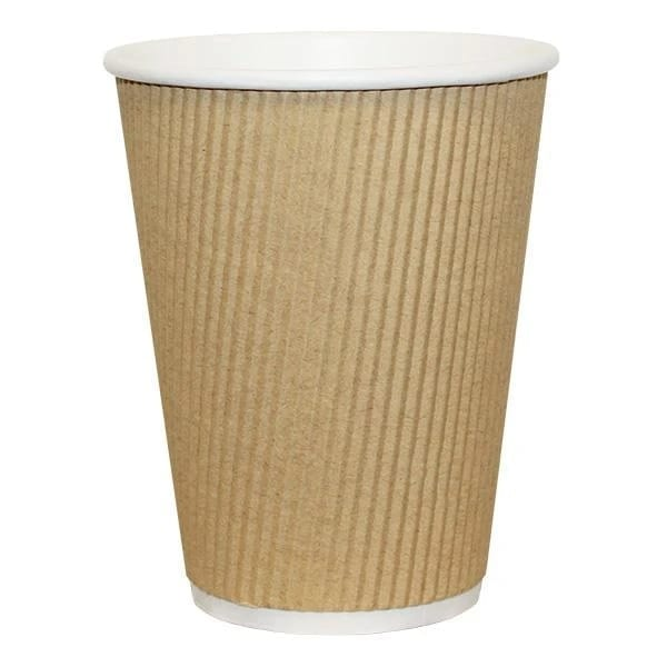 Ripple Wall Paper Cups Grid Design 12OZ 20 X 25