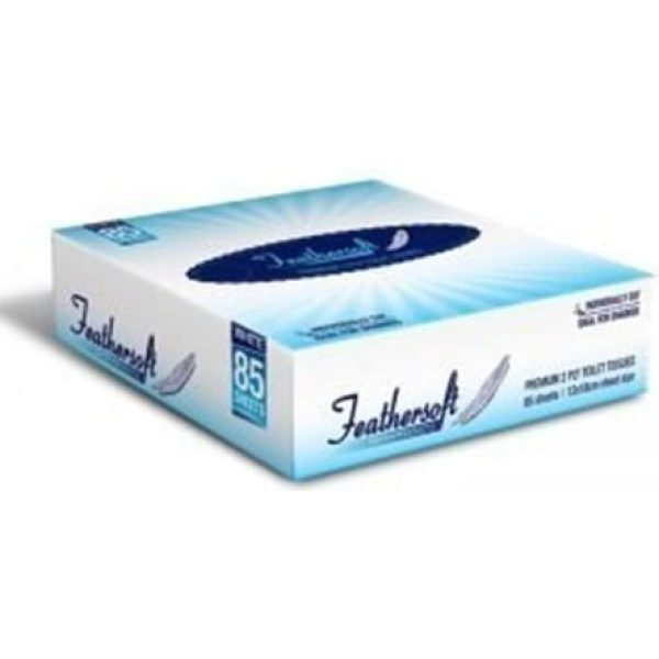 Feathersoft Flat Pack Toilet Tissues 85'S X 72