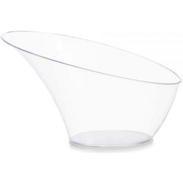 Angled Serving Bowl CLEAR Plastic Small X 25 3742