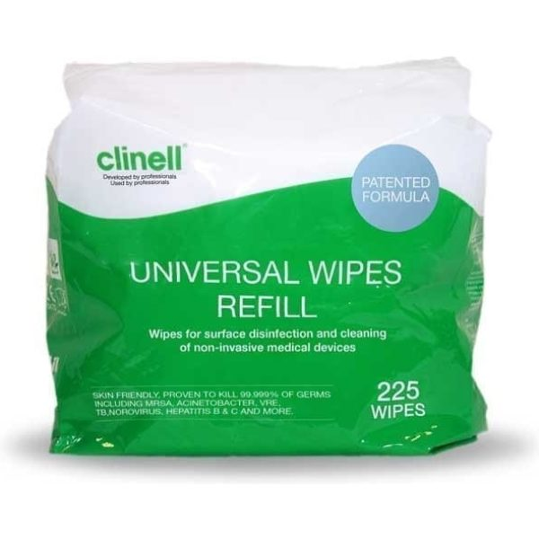 Clinell Universal Wipes Refils 225 Wipes