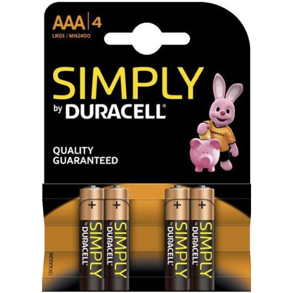 Duracell Simply batteries AAA X 4