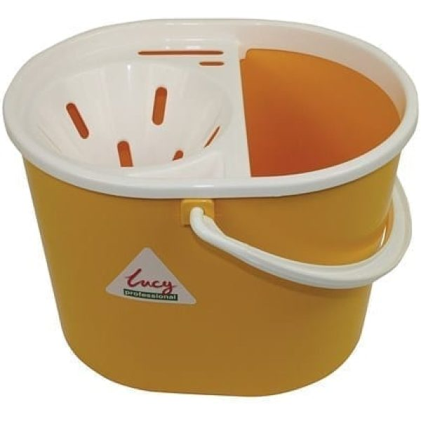 Lucy SYR Mop Bucket & Sieve YELLOW 15LTR