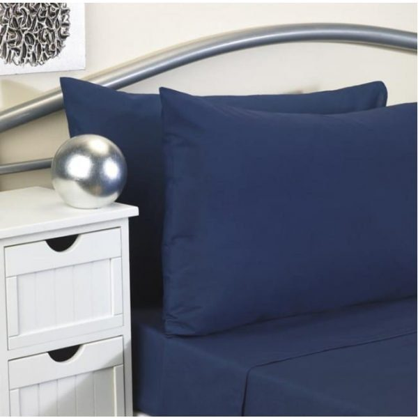 Softguard FR Fitted Bed Sheet NAVY Single