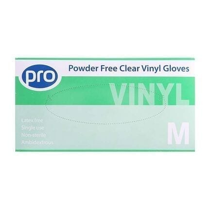 PRO Vinyl Powder Free Gloves Medium X 100