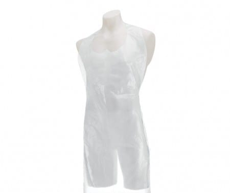 Aprons Disposable - Flat Pack WHITE 27x42''  X 100
