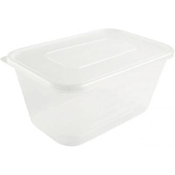My Choice Plastic Rectangular Containers With Lid X 250 C1000