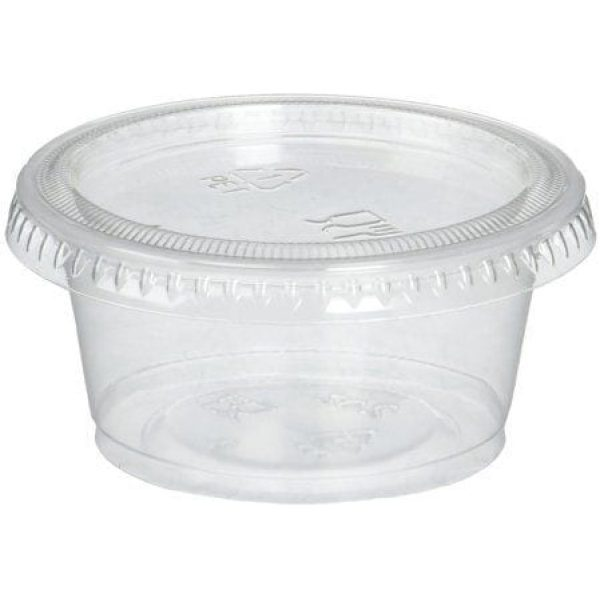 Majestic Clear Plastic Cups With Lids 2OZ X 1000