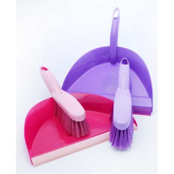Dust Pan And Brush Assorted Colours