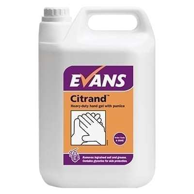 Evans Citrand Heavy Duty Hand Gel With Pumice 5LTR