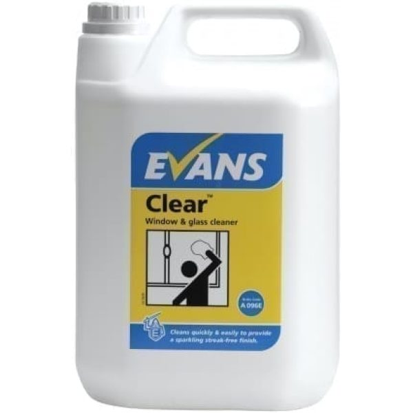Evans Clear Window Glass And Stainless Steel Cleaner 5LTR