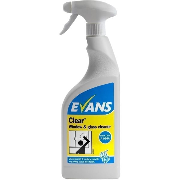 Evans Clear Window Glass and Stainless Steel Cleaner 750ML X 6