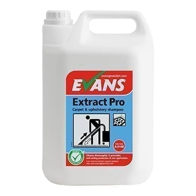 Evans Extract Pro Carpet And Upholstery Shampoo 5LTR