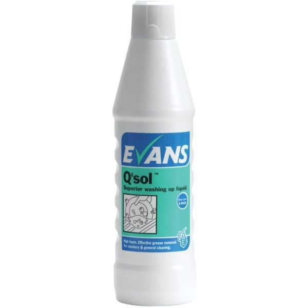 Evans Q'sol Superior Washing Up Liquid 1LTR X 6