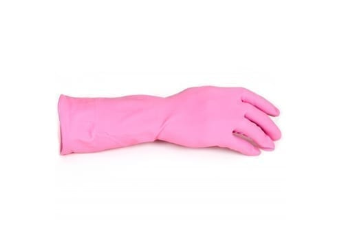 Household Rubber Gloves PINK Small