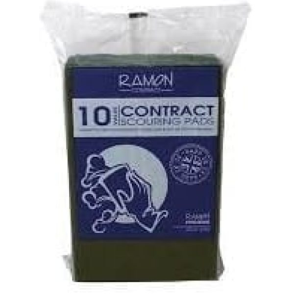 Ramon Contract Scouring Pads GREEN X 10