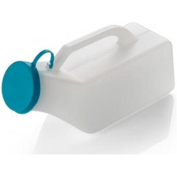 Male Plastic Urinal Bottle With Lid 1000ML