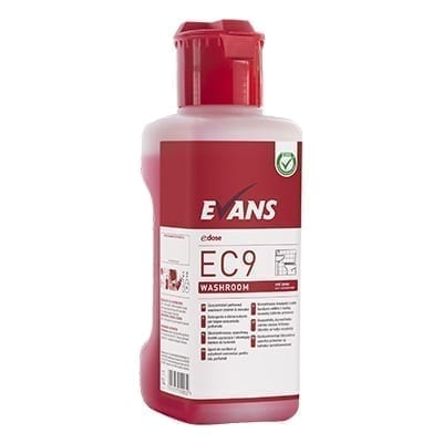 Evans EC9 Washroom Bactericidal Cleaner And Descaler 1LTR