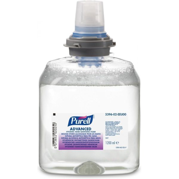 Gojo Purell Advanced Hygienic Hand Sanitising Foam 1200ML X 2 5396