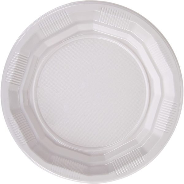 Choice Dining Plastic Plate WHITE 7''