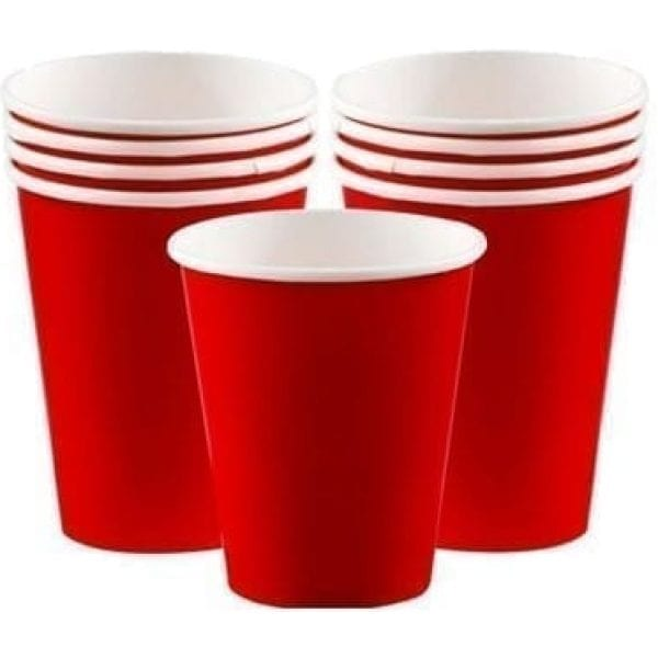 Ruby RED Cups 266ML X 8