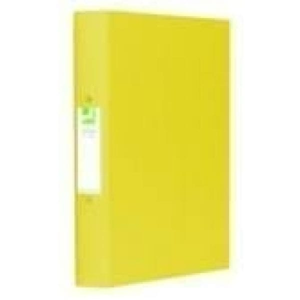 Q-connect 2 ring binder YELLOW A4 25mm polyp X 10