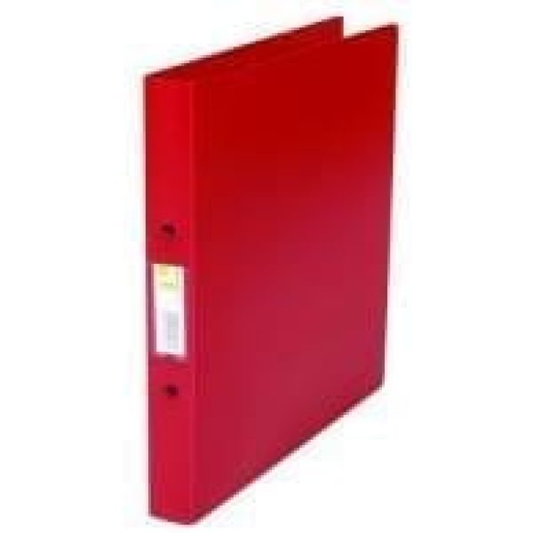 Q-connect 2-ring binder RED A4 25mm polyp X 10