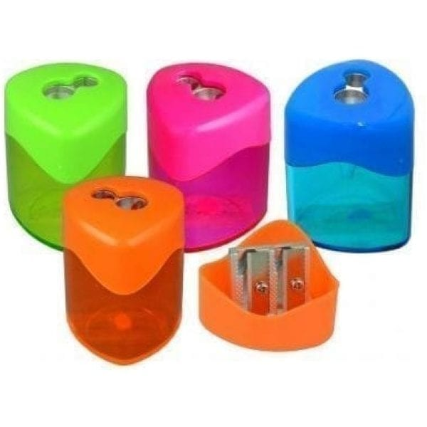 Drum Two Hole Sharpener Assorted X 24