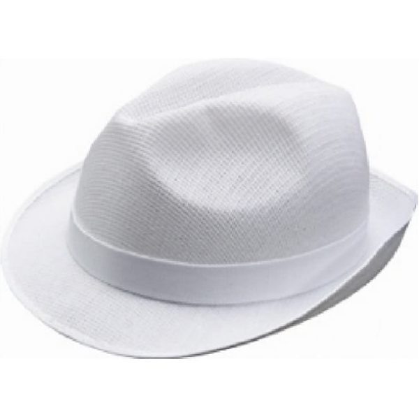 Trilby Mesh Hats WHITE Small