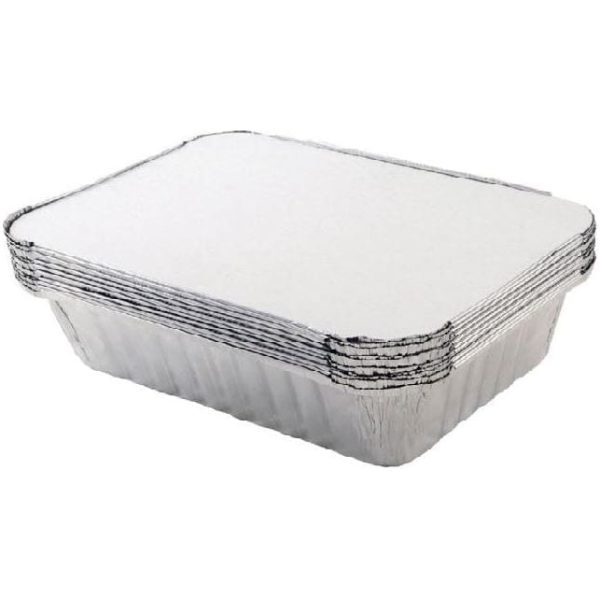 Oblong Tray Foil 323x164x45MM 5 X 10