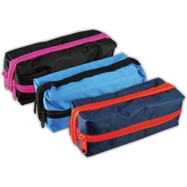 Criss Cross Rectangular Pencil Case Assorted