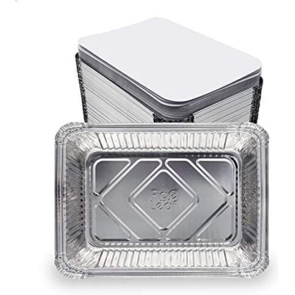 Superior Aluminium Containers Packed 1LTR Flat Full Curl 10 X 16