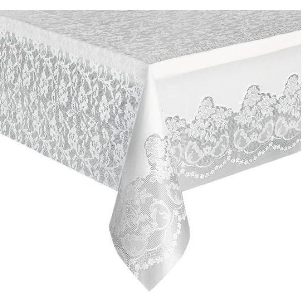 Dispozy High Quality Table Cloths Large WHITE 54 X 150''  X 10