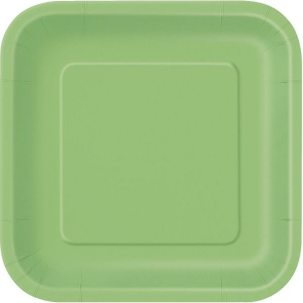 APPLE GREEN square plates 9''  X 14