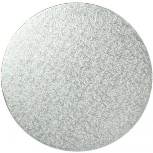 Round Emb Cake Board SILVER 12''  3MM X 25