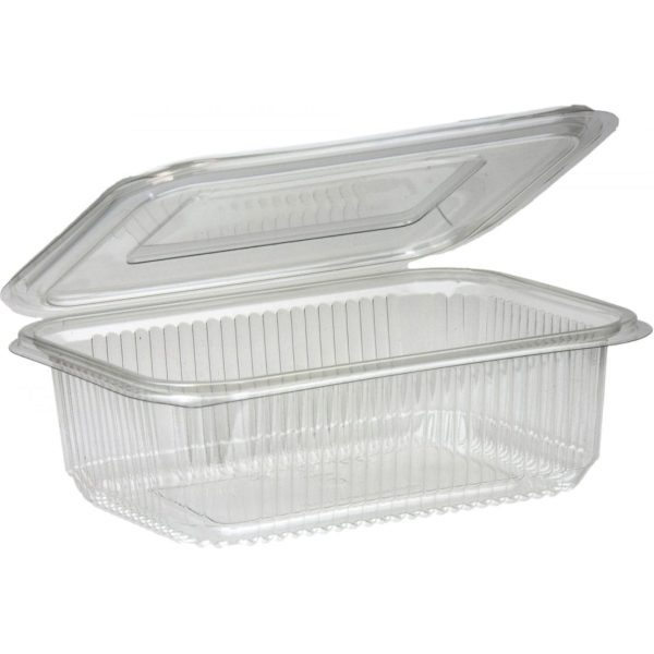 Salad Hinged Containers Plastic 1000CC X 200