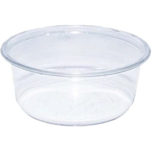 Container Packed  Round Clear Plastic 12OZ