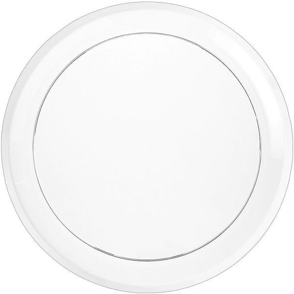 Mashers Round platter CLEAR 16''  Plastic X 25