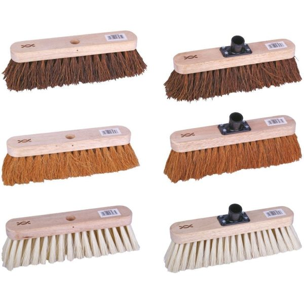 Flat Wooden Broom Head With Handle 11.5x47'' Soft