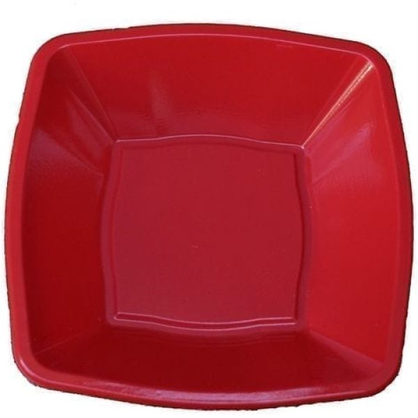 Mashers Square bowls RED 7''  Plastic X 240
