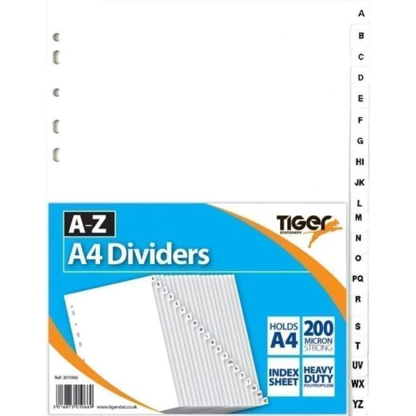 A-Z PP Dividers A4