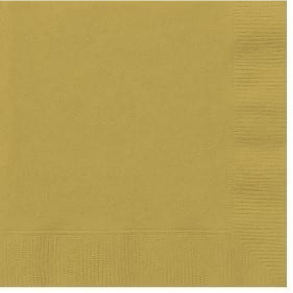 GOLD Lunch napkins X 50