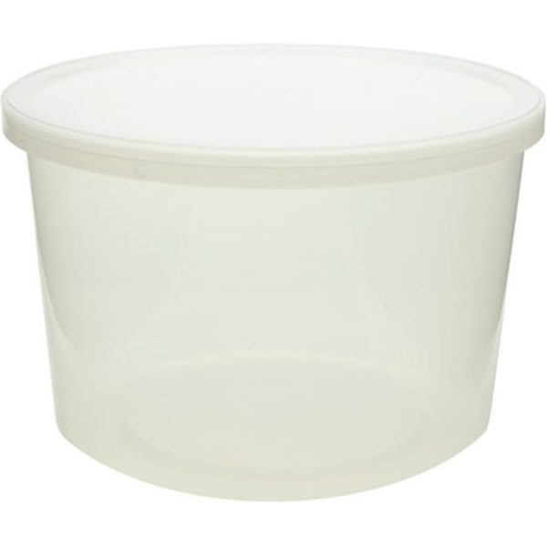 Containers Round Clear Plastic 8OZ 16 X 10