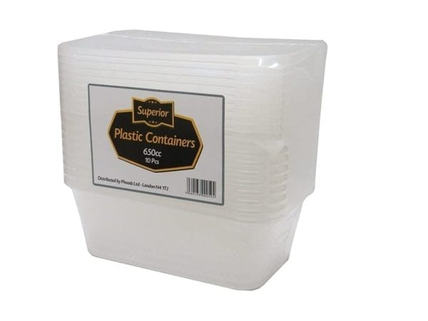 Container Rectangle Clear Plastic 500CC