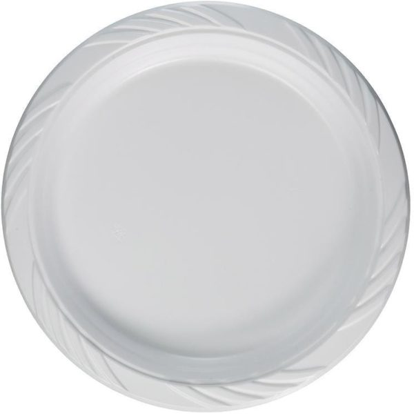 Embellish Round CLEAR Plastic Plate 9'' 12 X 20
