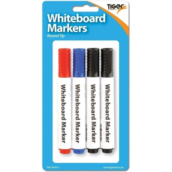 Whiteboard Markers Large X 4