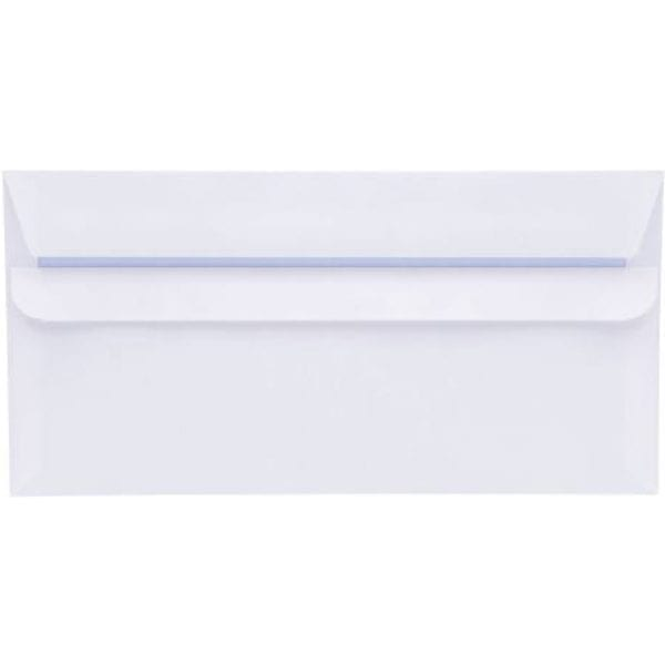 Value Wallet Self Seal Plain DL WHITE 80gsm 110x220MM X 1000