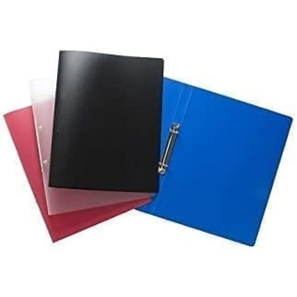 4 Ring Binder Solid Assorted Colours X 20