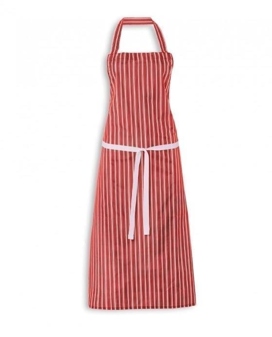 """Butchers Apron Striped RED 48"""""""